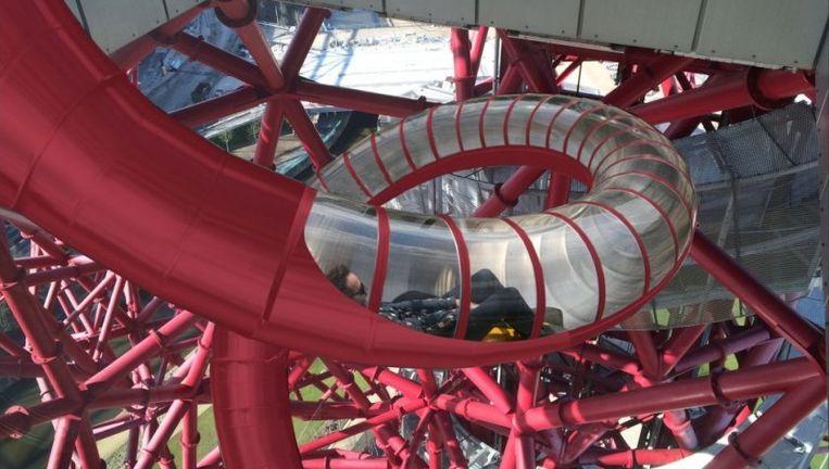 Zo zal de glijbaan er uitzien. Beeld Queen Elizabeth Olympic Park