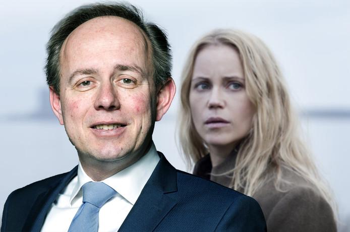 Saga Norén (Sofia Helin) en Kees van der Staaij.