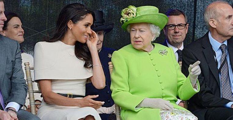 Meghan Markle sprak koningin Elizabeth voor de uitvaart van prins Philip Beeld BrunoPress