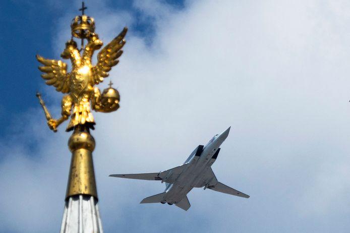 Un Tupolev Tu-22M3 au-dessus de la place Rouge à Moscou (archives).