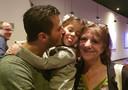 Met zoon James en kleindochter Hailey.