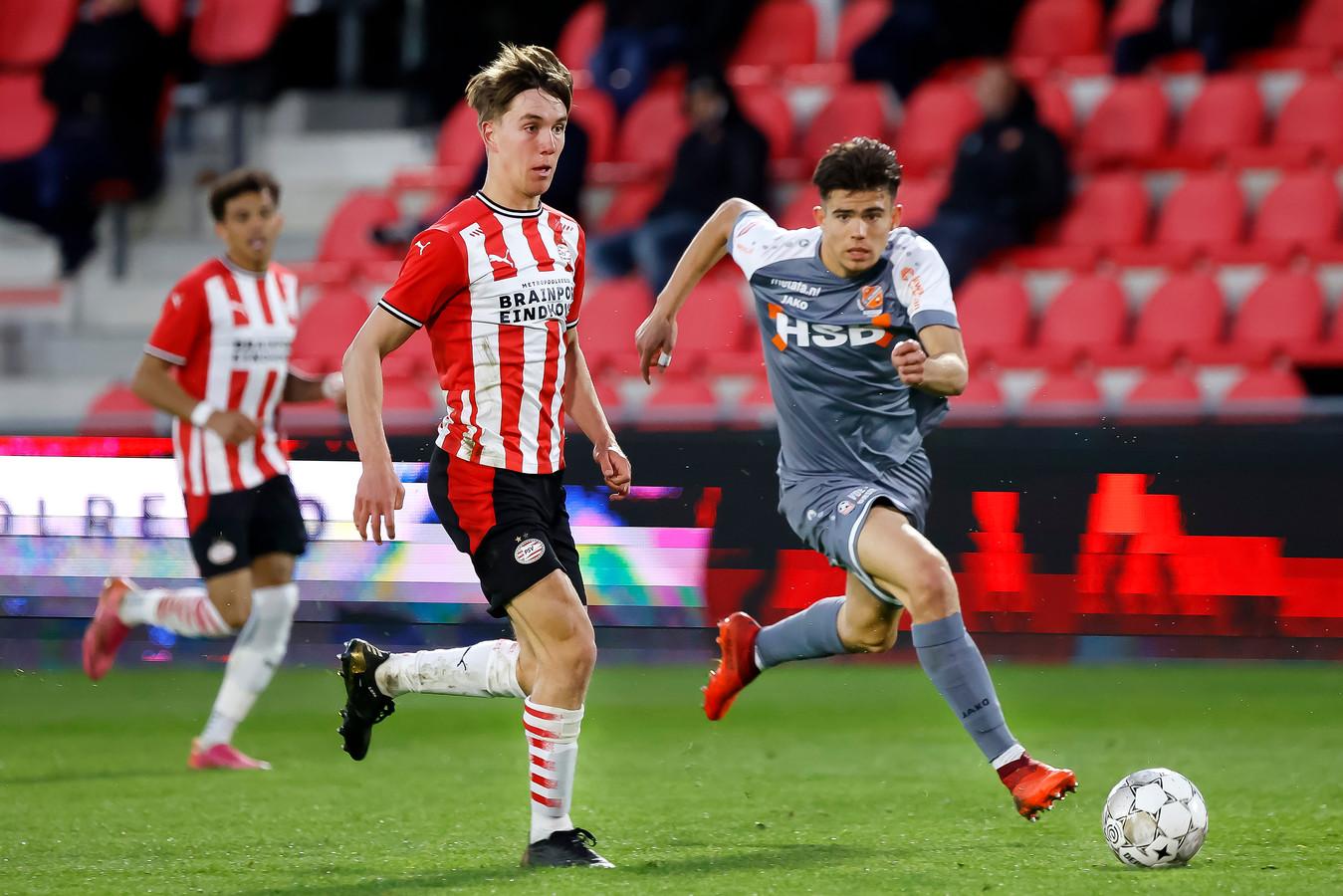 Dennis Vos kan een van de leiders van Jong PSV worden, komend seizoen.