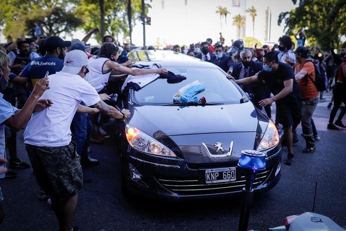 De Argentijnen daagden massaal op voor de begrafenisstoet