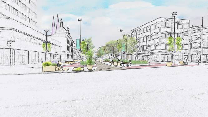 College wil zaag diep in de cityring zetten: heel veel asfalt wordt ingeruild voor rustige eenbaansweg met klinkers en groen