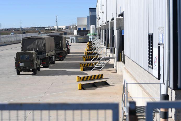 Entrepôt espagnol où ont été acheminés les vaccins Pfizer-BioNTech depuis la Belgique