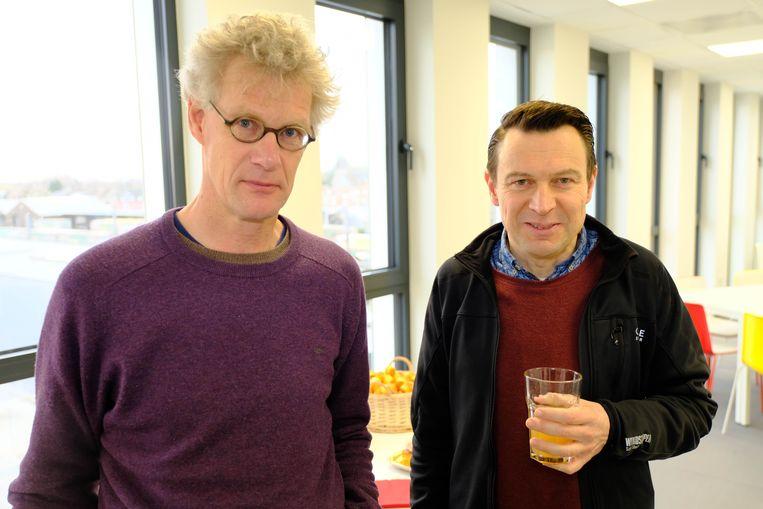 Buurtbewoners Peter Boogaerts en Luc Van Espen maken zich zorgen.