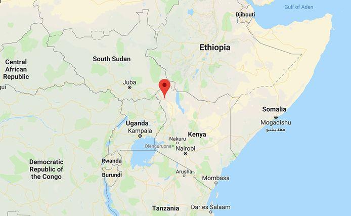 The location of the Kakuma Refugee Camp in northern Kenya.  Map courtesy Google Maps