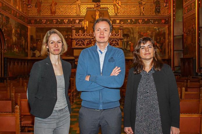Anne van Oosterwijk, Alex Van der Beke en Elviria Velghe.