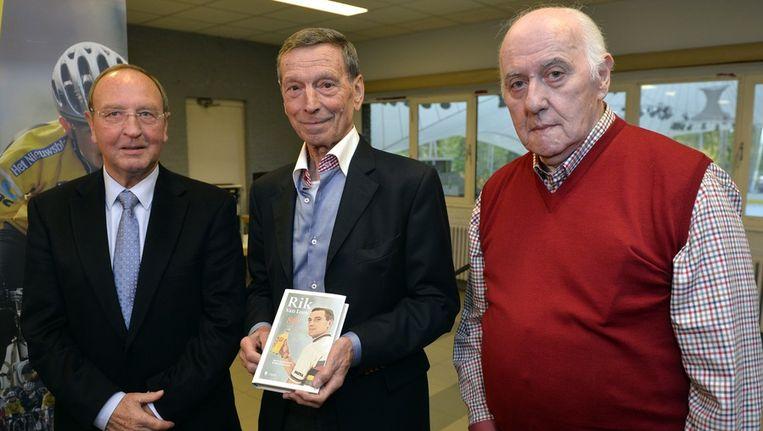 V.l.n.r.: Walter Godefroot, Rik Van Looy en Willy Schroeders. Beeld BELGA