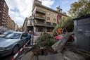Bomen ontworteld en omgevallen in Rome.