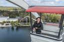Commercieel directeur Peggy Verelst in het reuzenrad van Bobbejaanland