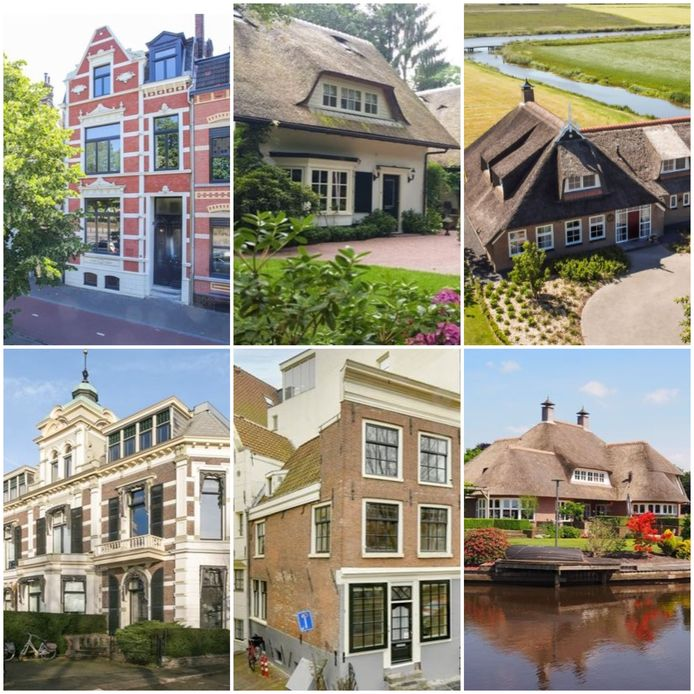 Woningen kriskras door Nederland ter waarde van één miljoen euro.