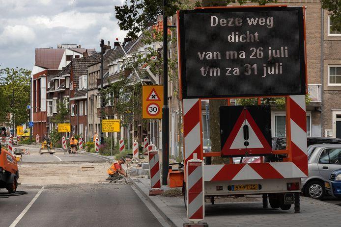 Op de Hertogstraat en Vestdijk in Eindhoven worden momenteel drempels verwijderd, aangepast en nieuwe aangelegd.