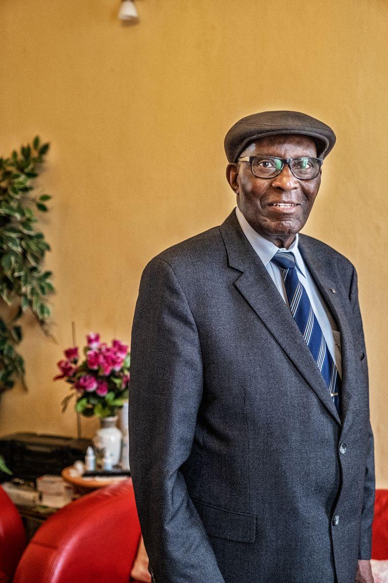 Lazare Jéris Bungu Di Mbongo: 'Tijdens de weekends mocht een zwarte zich niet in de buurt van een blanke bevinden.' Beeld Tim Dirven