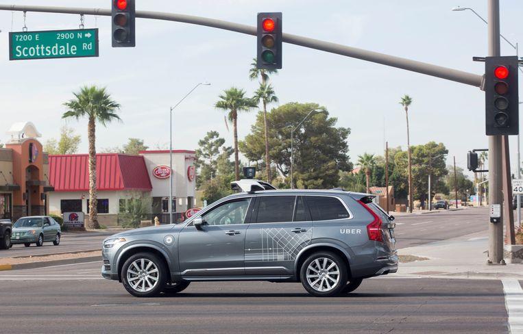 Beeld ter illustratie. Een zelfrijdende Volvo in Scotssdale in de Amerikaanse staat Arizona.
