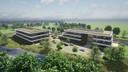 Impressie van de twee hoofdgebouwen van MS Centrum Steenenburg.