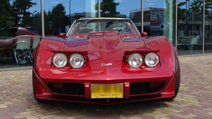 De politie deelde een foto van de gestolen Corvette.