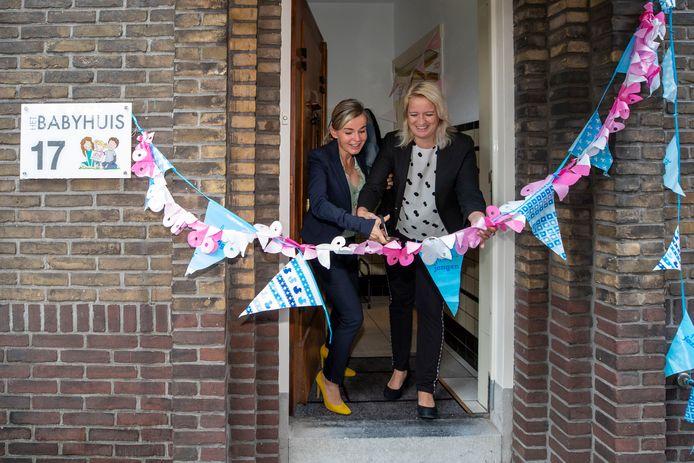 De feestelijke opening van Babyhuis Schiedam, in 2019.