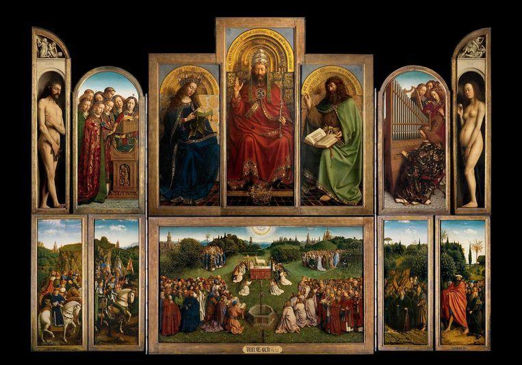 Het Lam Gods in Gent, voor de restauratie.