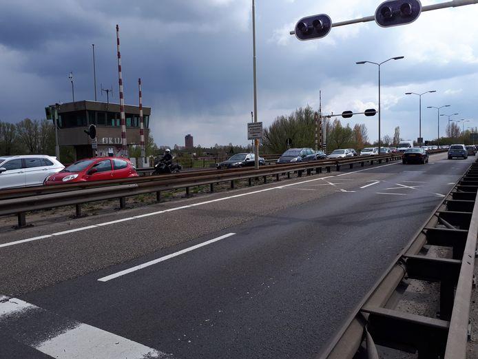De Wantijbrug in N3 bij Dordrecht.