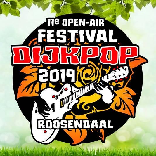 Logo van Elfde editie van gratis festival Dijkpop in Roosendaal