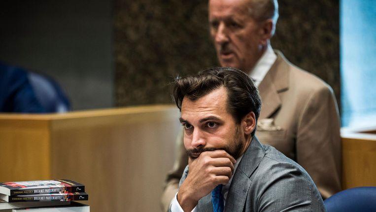 Thierry Baudet en Theo Hiddema in de Tweede Kamer Beeld Freek van den Bergh / de Volkskrant