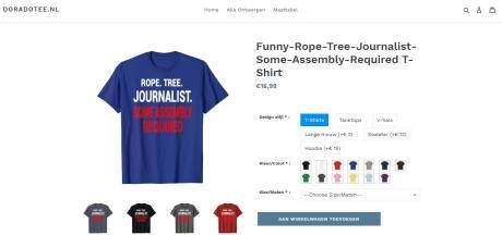Omstreden webshop die shirts met haatzaaiende teksten verkocht offline gehaald: 'Dit tolereren wij niet'