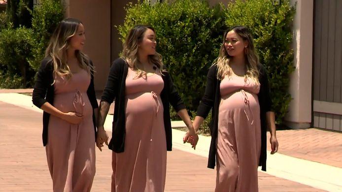 Drieling gelijktijdig zwanger tijdens 'Covid-boom'.