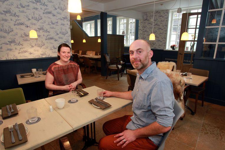 Brugge Sarah De Baere en David Delys uitbaters restaurant Cézar