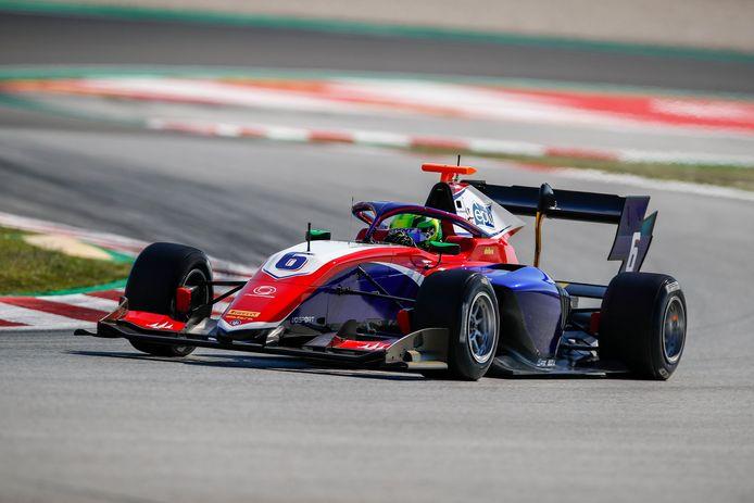 David Schumacher aan het werk in de F3.