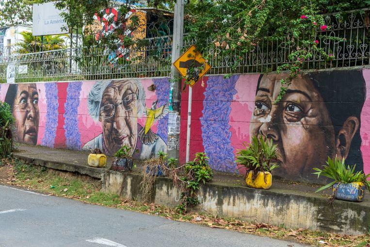 Graffiti van moeders van vermisten in Comuna 13. Beeld Ynske Boersma