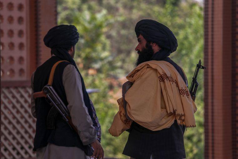 Talibanstrijders in Kaboel.  Beeld EPA