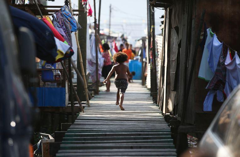 Port Moresby, de hoofdstad van Papoea-Nieuw-Guinea.