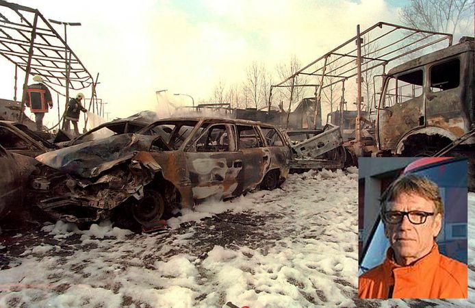 Bij de kettingbotsing in Nazareth in 1996 vielen tien doden. Inzet: Marc Naessens, toenmalig brandweersergeant en nu -luitenant.