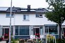 De zonnepanelen die op het dak van het woonhuis lagen waren in brand gevlogen.