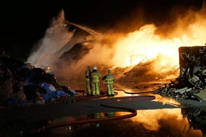 De brand bij Ter Horst in Varsseveld.