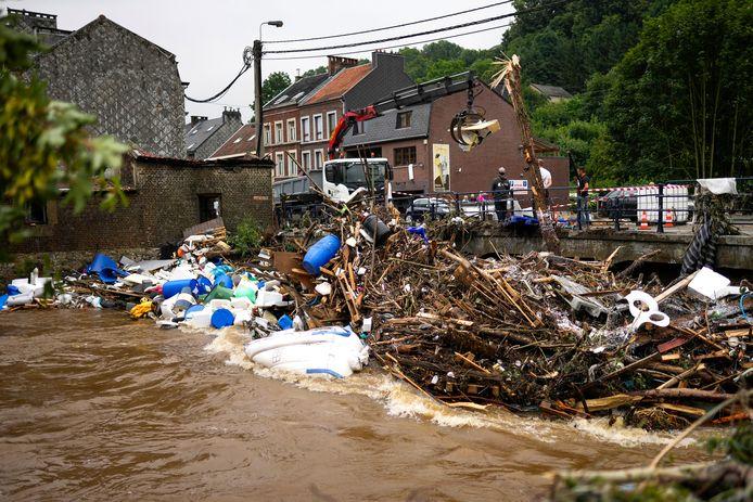 Verviers is ook zwaar getroffen door de overstromingen van afgelopen dagen. De etappe woensdag vanuit deze plaats is geschrapt in de Ronde van Wallonie.