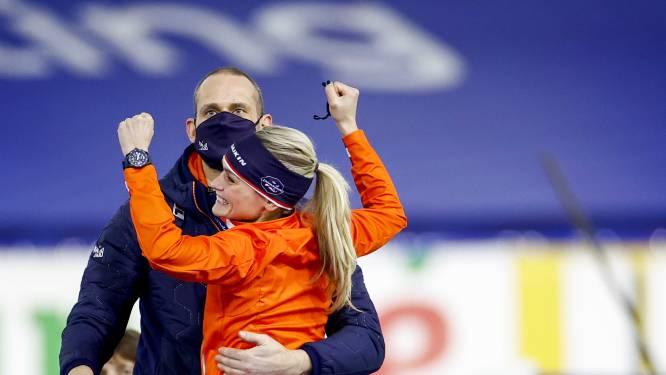 Schouten schrijft historie als eerste Nederlandse met goud op 5000 meter: 'Bizarre race'