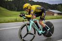 Koen Bouwman in de net afgelopen Ronde van Zwitserland.