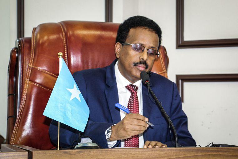 President Mohamed Abdullahi Mohamed van Somalië.  Beeld AFP
