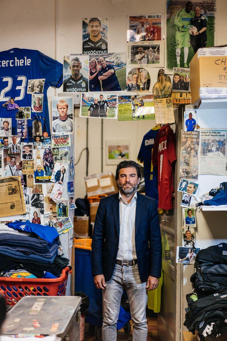 Mehdi Bayat: 'Ik ben opgegroeid in Cannes. En toch ben ik een Carolo, omdat ik in de stad en de mensen geloof.' Beeld Wouter Van Vooren