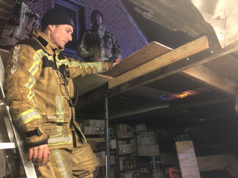 De brandweer was snel ter plaatse en kon erger voorkomen.