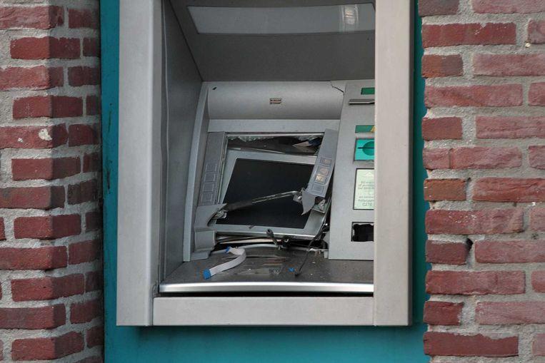 Archiefbeeld van een geldautomaat die in Nederland werd opgeblazen. Beeld ANP