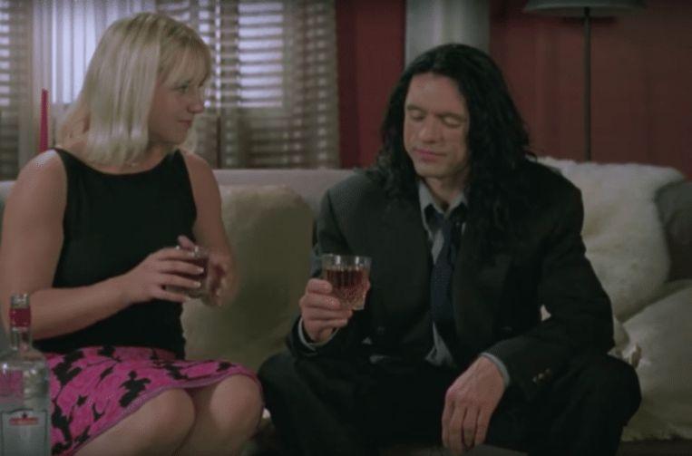 Juliette Dannielle en Tommy Wiseau in 'The Room'. Beeld rv