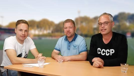 Juriën Dam, Barry van der Hooft en Rudy Boogert.