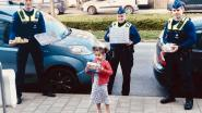 Schattig. Kleine Amirah (4) deelt snoep en cake van afgelast verjaardagsfeest met zorgverleners en politie