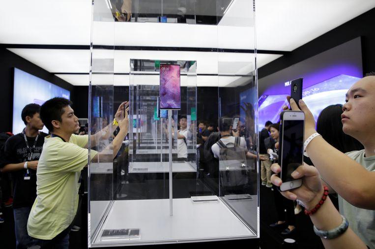 De launch van 5G concept smartphones in Beijing. Beeld REUTERS