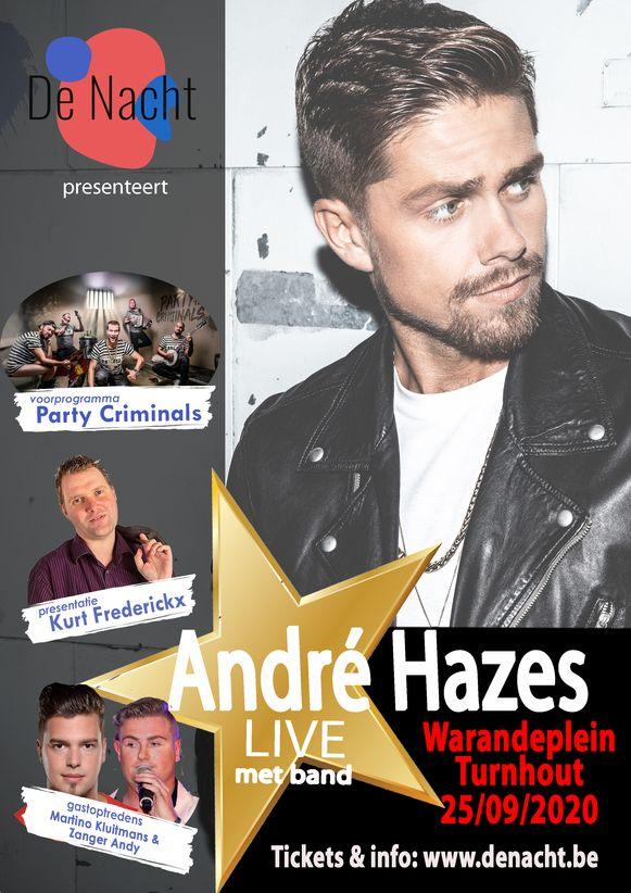 De nieuwe affiche voor 'De Nacht met André Hazes'