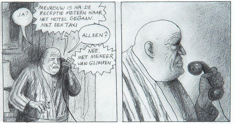 Verschillende tekenaars gingen aan de slag in hetzelfde stripalbum. Deze tekening is van Thé Tjong-Khing. Beeld