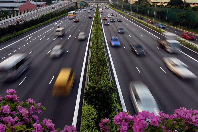 Verkeer in Singapore.